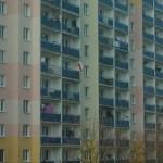 Żołnierze Wyklęci - flaga na jednym z budynków, zbliżenie