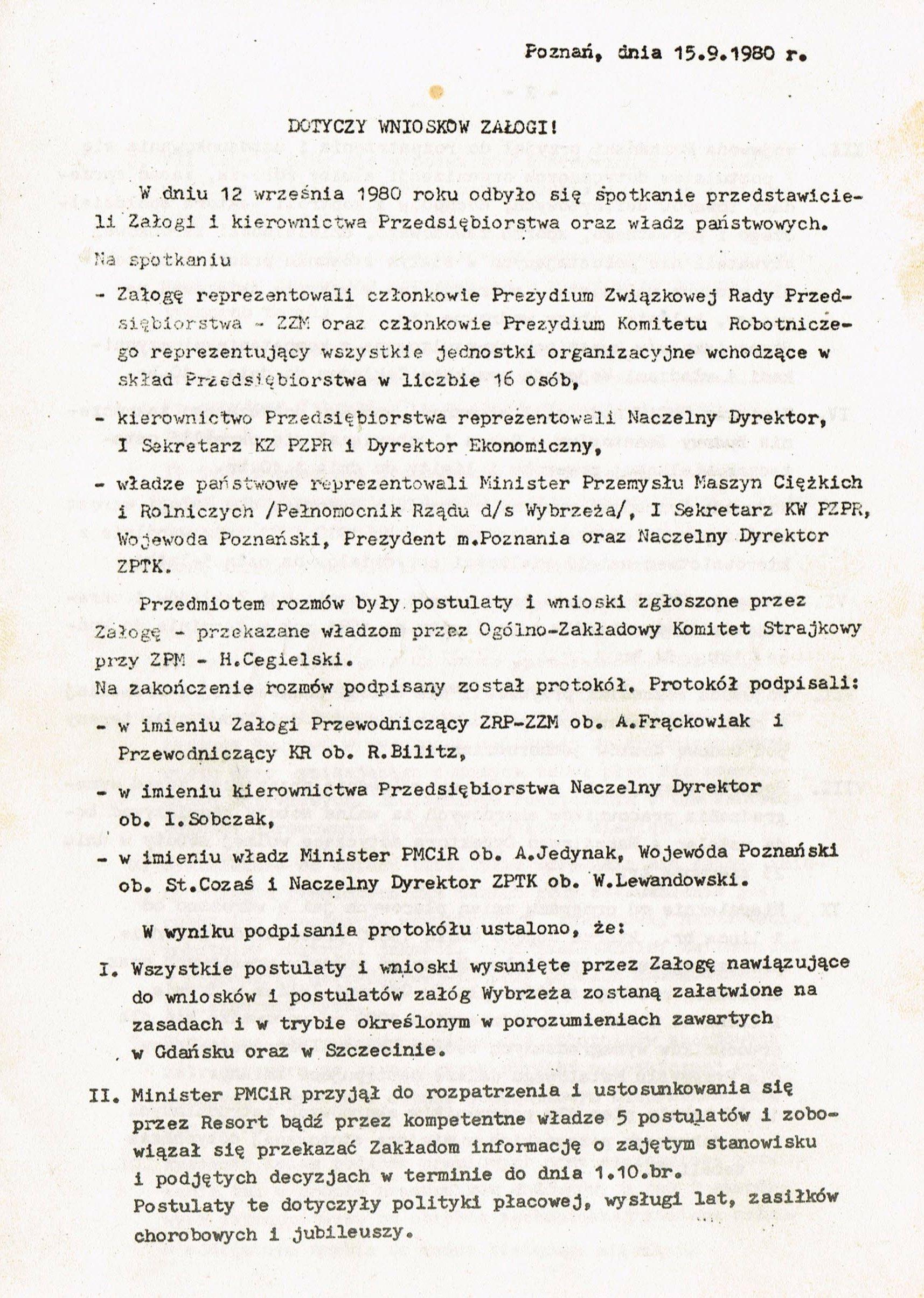 Z Archiwum Solidarności: Odpowiedź HCP strona 1