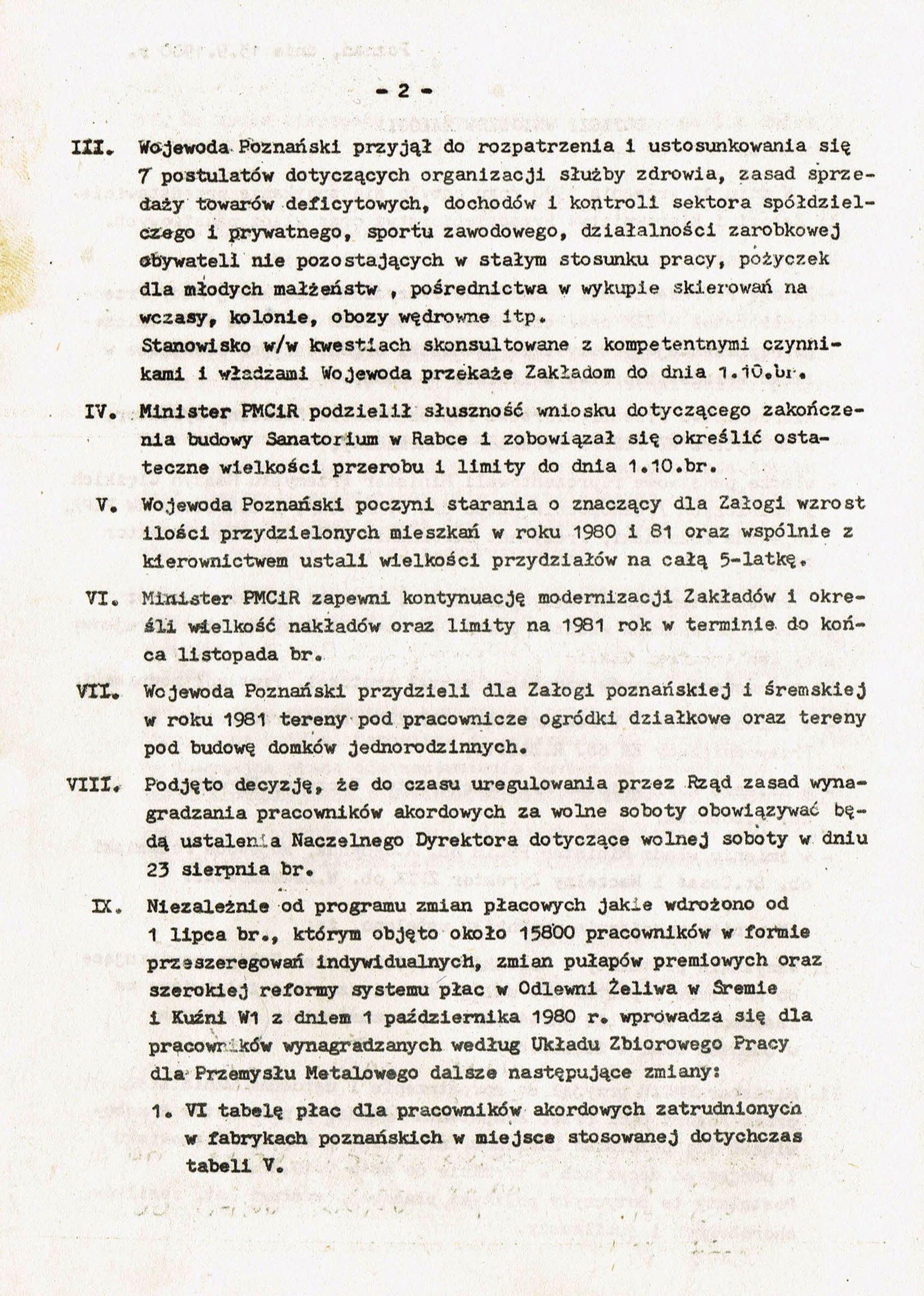 Z Archiwum Solidarności: Odpowiedź HCP strona 2
