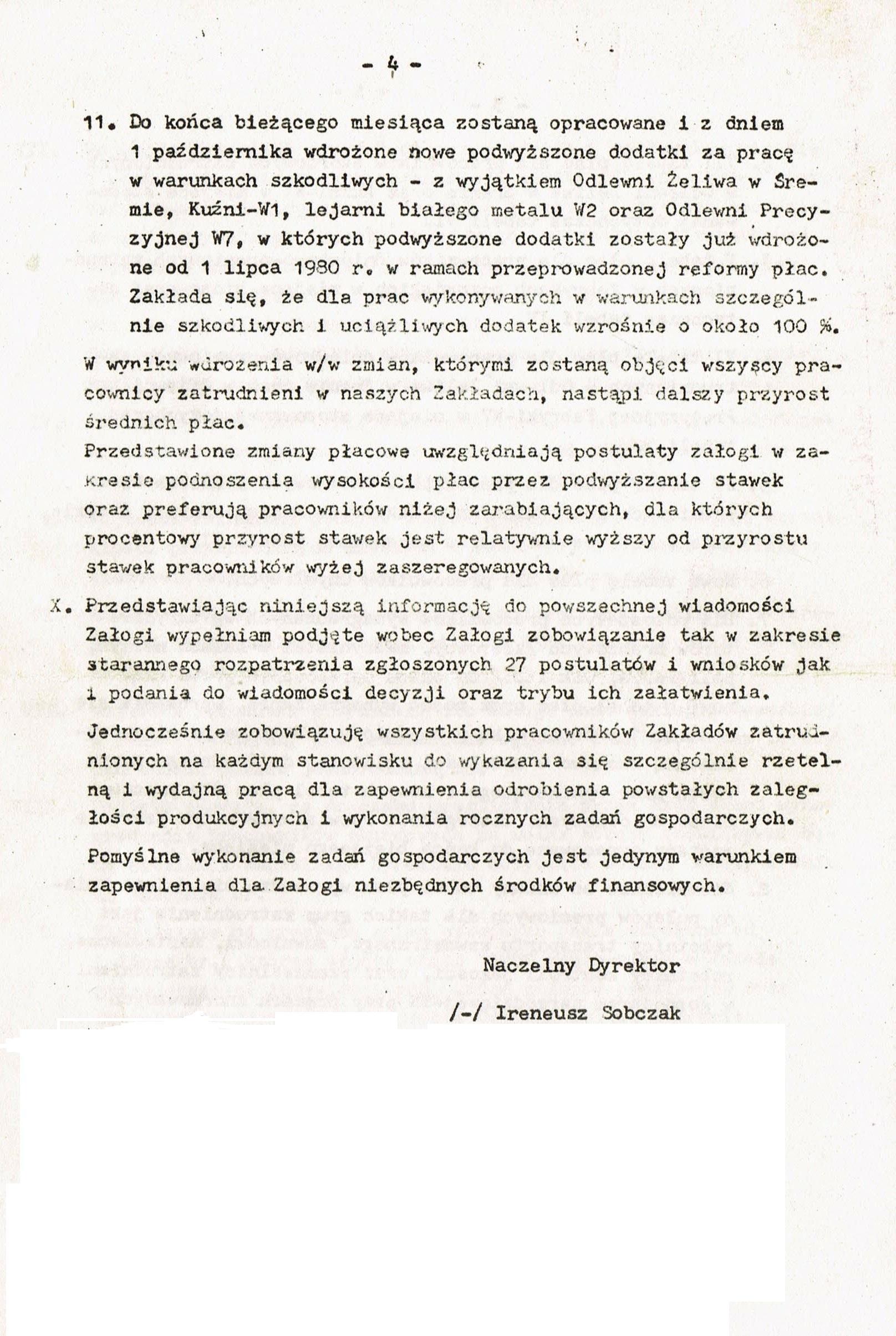 Z Archiwum Solidarności: Odpowiedź HCP strona 4