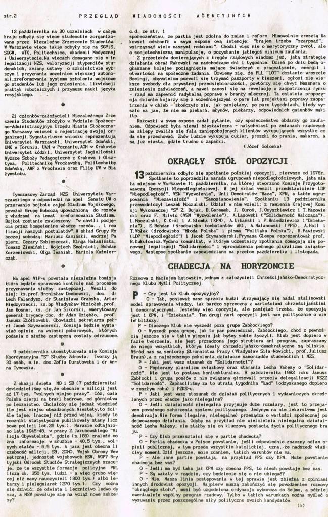 Z Archiwum Solidarności Przegląd Wiadomości Agencyjnych Strona 2