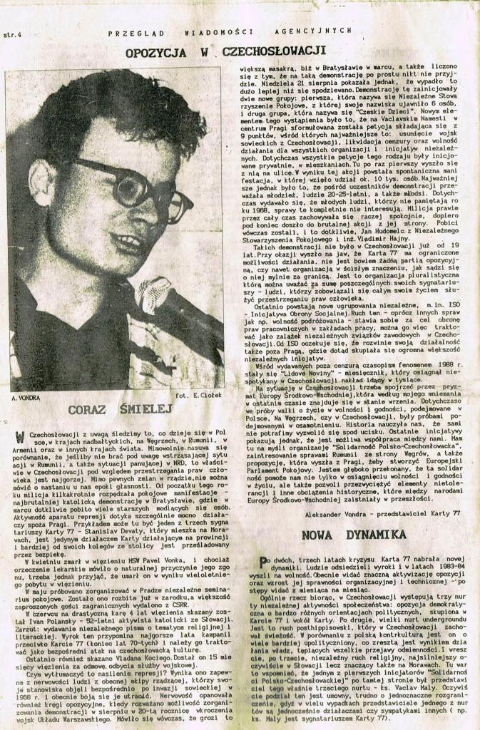 Z Archiwum Solidarności Przegląd Wiadomości Agencyjnych Strona 4