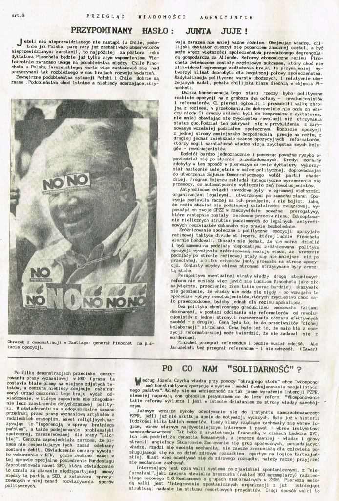 Z Archiwum Solidarności Przegląd Wiadomości Agencyjnych Strona 6